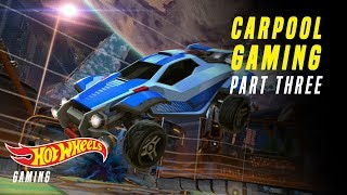 HOT WHEELS ROCKET LEAGUE GOALS! | Carpool Gaming | Hot Wheels Gaming