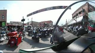 Sturgis Motorcycle Rally, 2018, 360 Degree Virtual Reality Video, Main Drag August 6, 2018, video 1.