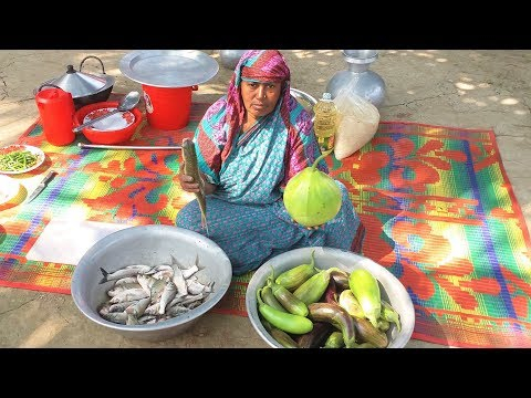 100% Live Fish Cooking With Fresh Vegetables | Live Fish Catching & Cooking For Kids and Old Women