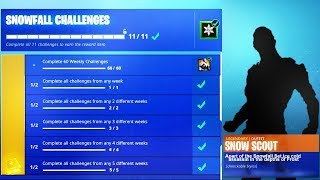 "New *SECRET* ""SNOWFALL SKIN"" REVEALED in Fortnite! (Fortnite SNOWFALL SKIN)"