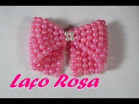 NM Bijoux - Laço Rosa - passo a passo