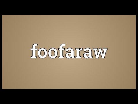 Header of foofaraw