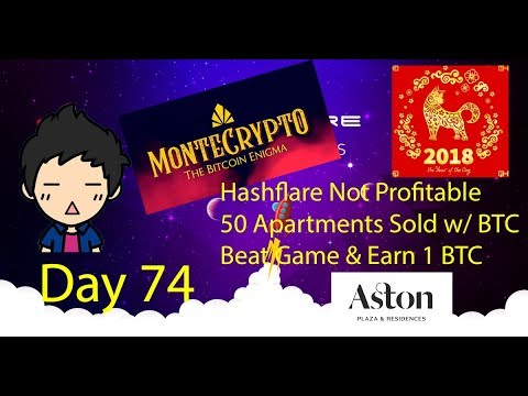 Cloud Mining - Day 74 - Bitcoin Rises Back To 10k, 50 Apartments Bought With BTC, Beat Game Win BTC