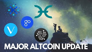 Major Altcoin Update! IOTA, Cardano, HOLO, OmiseGO, and VeChain News - Cryptocurrency News