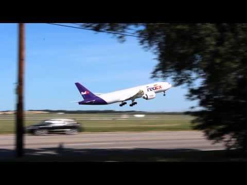 Fedex 777F Takeoff - Memphis International Airport