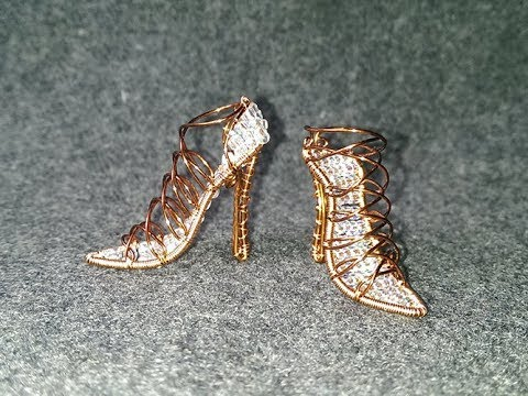 high heels mini shoes - how to make wire wrap jewelry 255