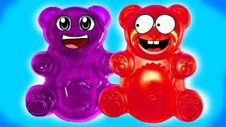 Lucky Bär und seine Freundin machen einen Antistressball aus Schleim und Aqualinos - DiY