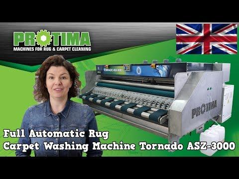 Automatic Rug Carpet Washing Machine Tornado ASZ-3000 New Line