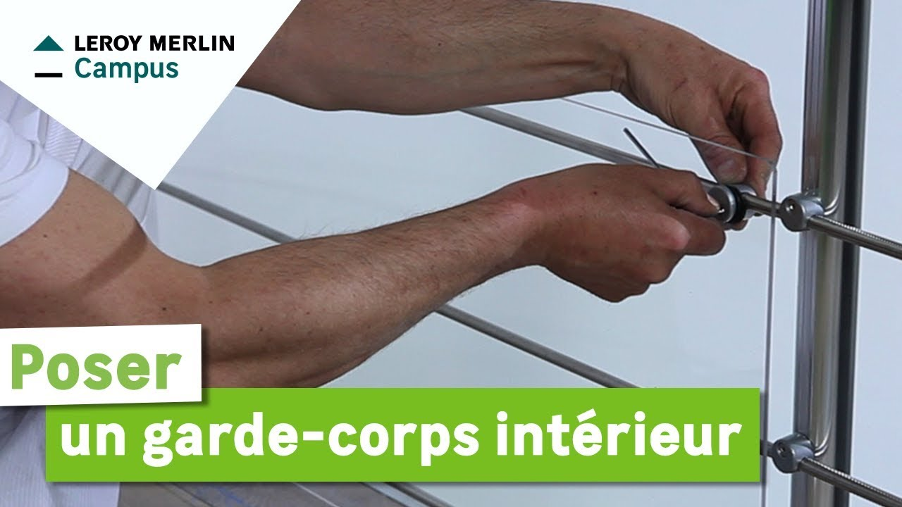Comment monter un garde corps int rieur leroy merlin for Garde corps interieur escalier