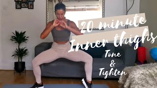 INNER THIGH TONE AND TIGHTEN WORKOUT || 20 minute no jumping workout at home|| Quick body sculpt