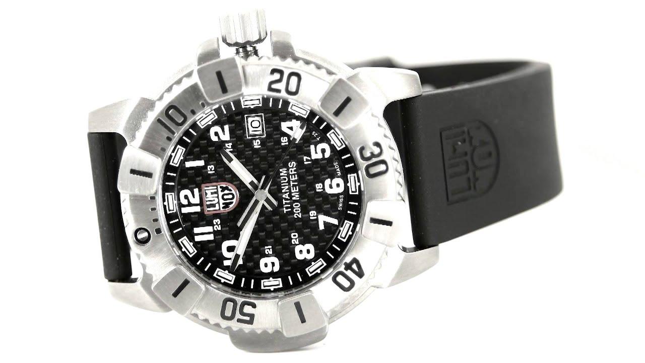 Luminox watch luminox 6601 evo navy seal titanium dive black dial watch video youtube - Luminox navy seal dive watch ...