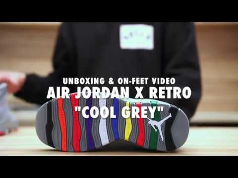 44116ef15db2 Air Jordan 10 Retro Cool Grey Unboxing   On feet Video at Exclucity ...