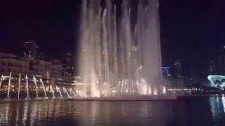 Dubai fountain at night. Full HD 2016