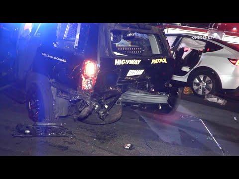 Auto-Pilot Runs From Police, Crashes Into Cop Car | San Diego