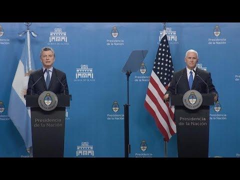 Macri y Pence hablaron de reforzar el lazo estrecho entre Argentina y Estados Unidos