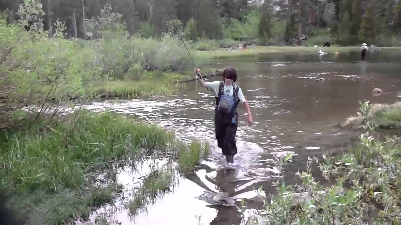 Fly fishing for rainbow trout bishop creek ca youtube for Bishop creek fishing