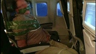 Unruly plane passenger duct-taped to seat