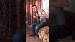 Мегакрутой вальс с котом!!!