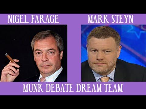Nigel Farage & Mark Steyn Takes on Socialist Liberals #MunkDebate Global Refugee Crisis