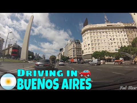 Driving in Buenos Aires (from San Nicolás to Parque Patricios)