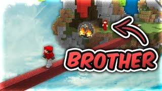 carrying my NOOB BROTHER in bedwars (he tried to teamgrief pls ban)
