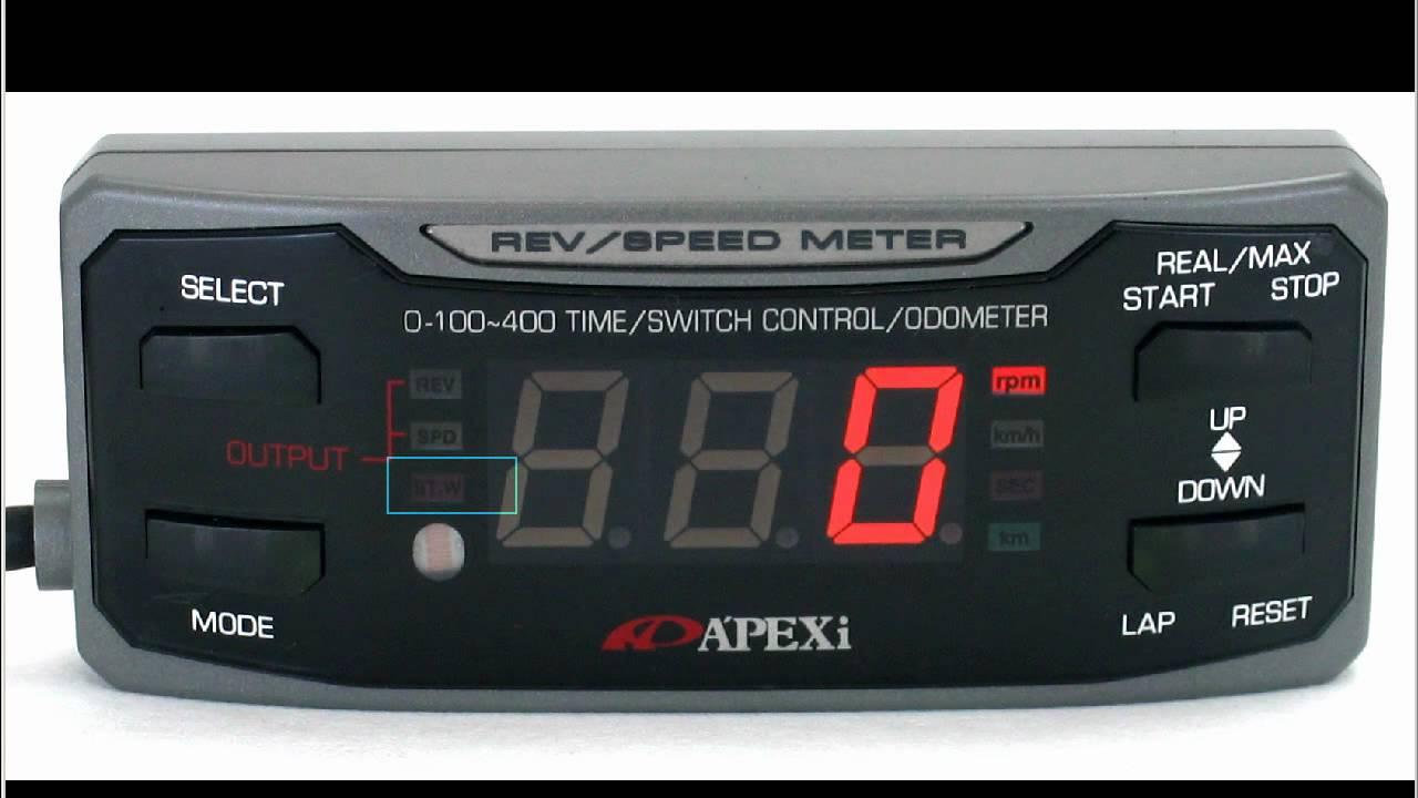 Apexi Rsm Gen 1 Rev Speed Meter Youtube Vafc2 Wiring Diagram