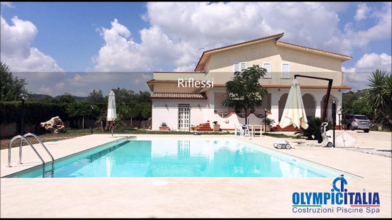 Vendita Piscine A Catania costruzione piscina rettangolare siracusa - piscina skimmer sfioro olympic  plus