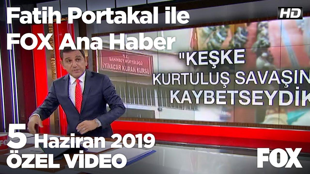Yıldırım'dan İmamoğlu ile canlı yayına yeşil ışık... 5 Haziran 2019 Fatih Portakal ile FOX Ana