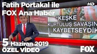Yıldırım'dan İmamoğlu ile canlı yayına yeşil ışık... 5 Haziran 2019 Fatih Portakal ile FOX Ana Haber