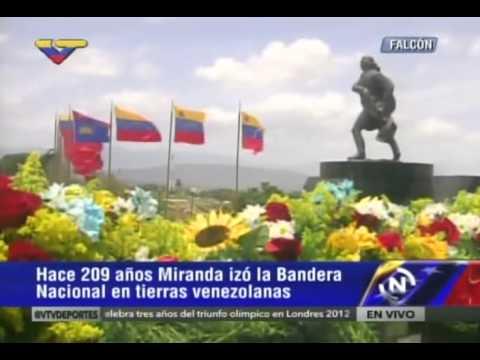 Despliegue de la bandera de Venezuela de 1.200 metros en La Vela de Coro