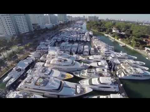 Miami International Boat Show 2015 [Drone Video]