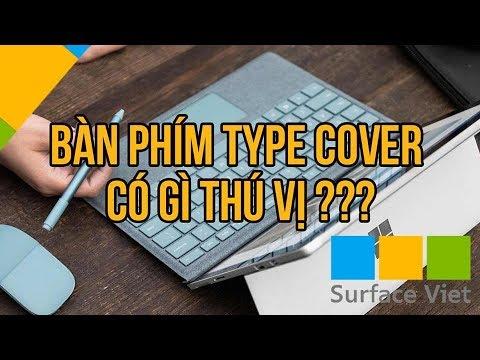 Bàn phím Type Cover của Surface Pro có gì thú vị?