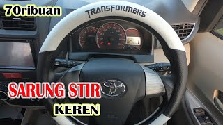 Cover Pelindung Stir Mobil Bahan Kulit 38cm Recommended UCI89 - Original 999