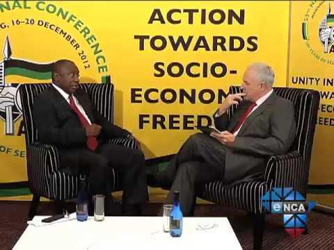 eNCA's Jeremy Maggs Interviews Deputy President of the ANC Cyril Ramaphosa (Part 1)