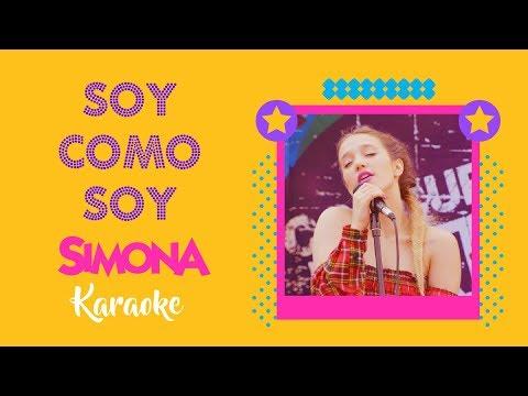 SIMONA | SOY COMO SOY (KARAOKE OFICIAL)