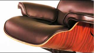 Lounge Chair And Ottoman - Eames Reproduction Black - Anniversary Edition - Classic