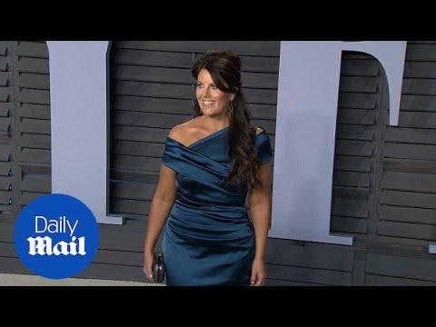 Monica Lewinsky wears silk gown at Vanity Fair's Oscars party - Daily Mail