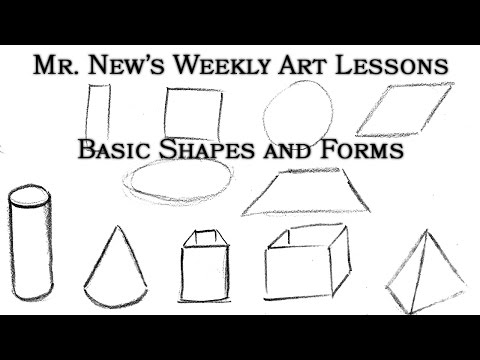 Turn Simple Shapes Into Complex Forms - Construction - Weekly Art Lessons Vol. 02