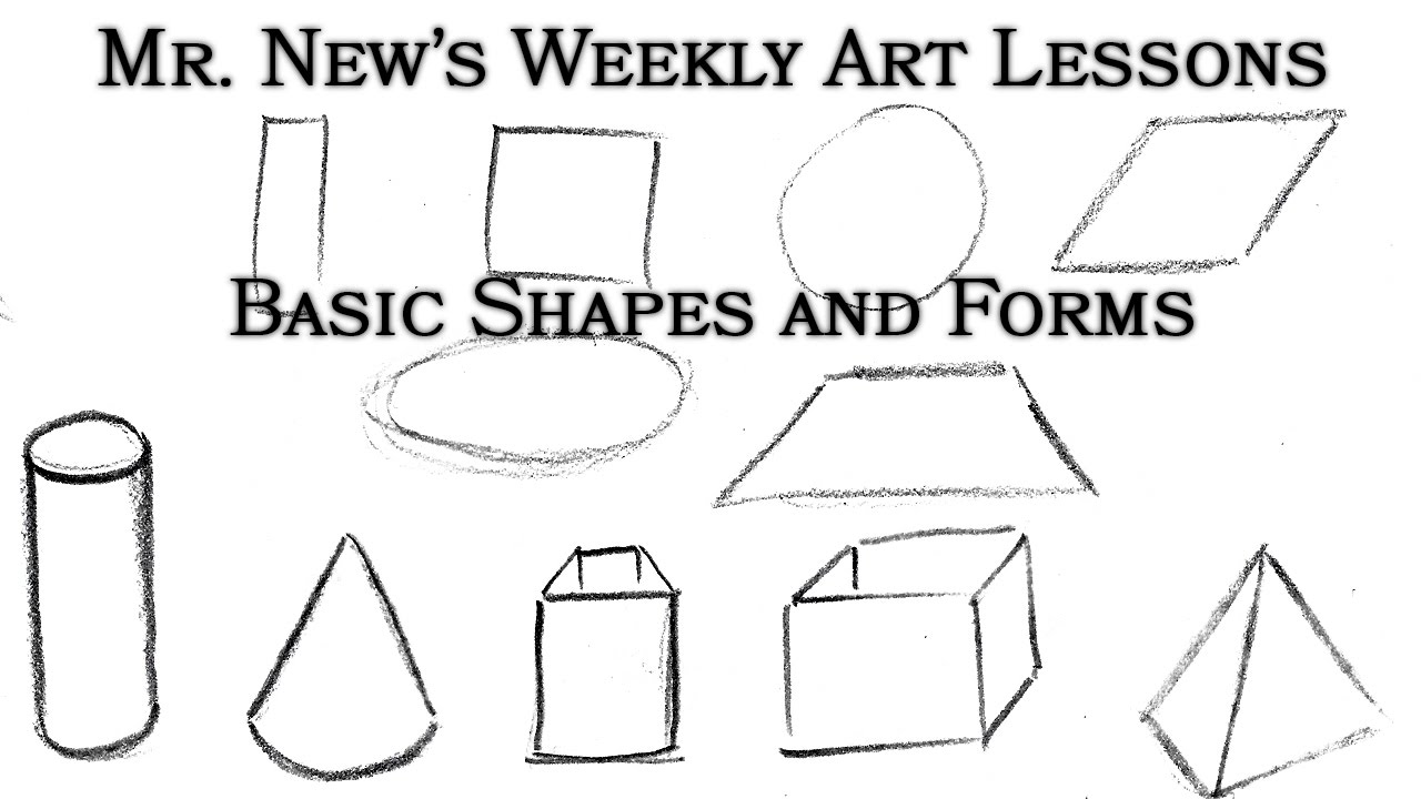 turn simple shapes into complex forms construction weekly art lessons vol 02 - Simple Shapes