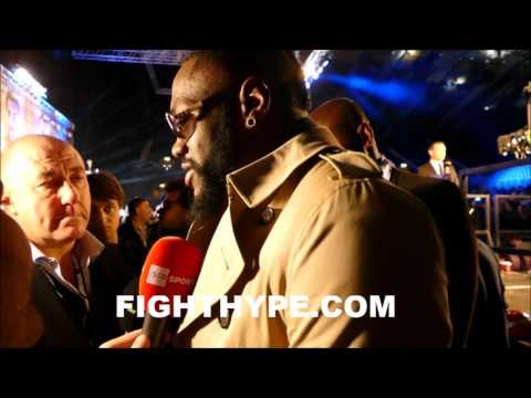 DEONTAY WILDER REACTS TO JOSHUA VS. KLITSCHKO WEIGH-IN; INSISTS FIGHT NOT GOING THE DISTANCE