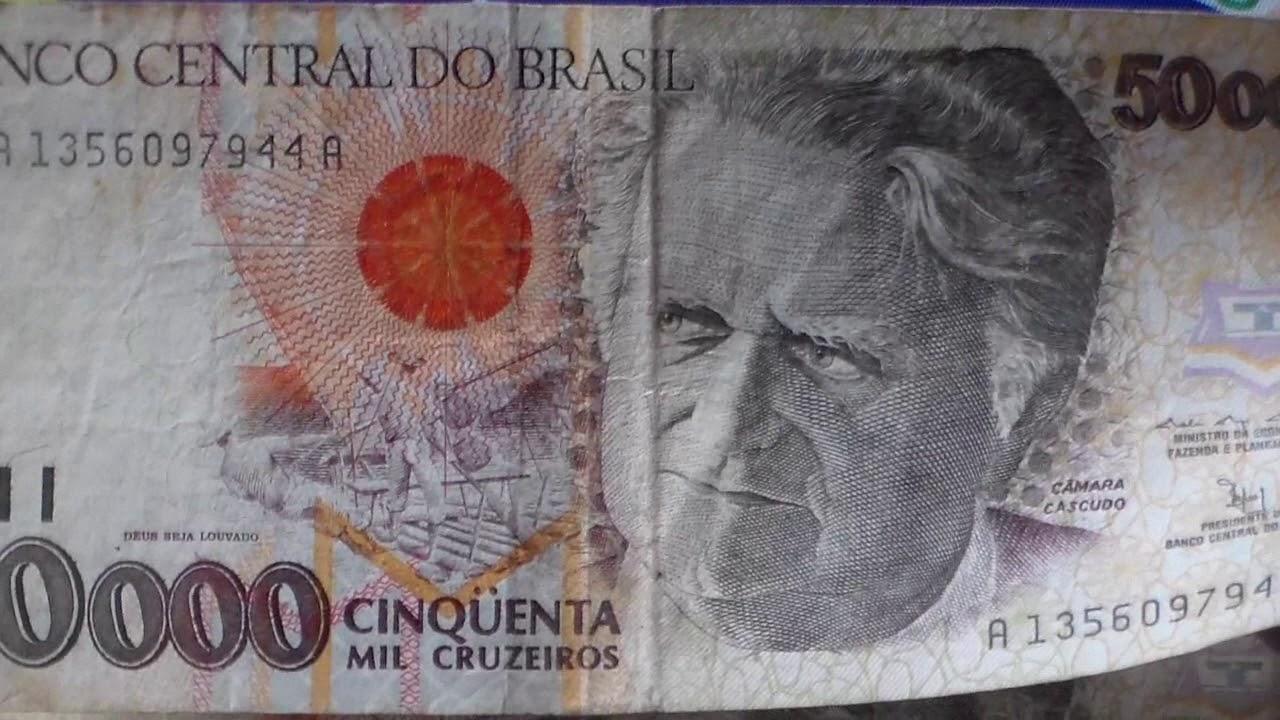 50 000 Cruzeiros 50 Cruzeiros Reais Fernando Henrique Ministro