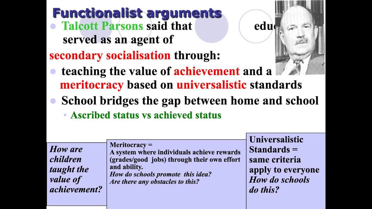 functionalist perspective on education What is a theoretical perspective perspectives might best be viewed as models the functionalist perspective the origins of the functionalist perspective can be traced to the work of herbert spencer and emile durkheim the problem of maintaining social order is a central problem for understanding society understanding society from a functionalist perspective.
