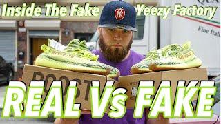 INSIDE THE FAKE YEEZY FACTORY + REAL Vs FAKE SEMI FROZEN YELLOW 350 V2s