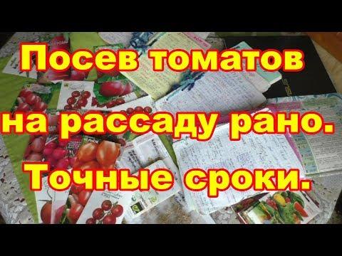 Чем раньше посеем томаты, тем больше будет урожай!Точные сроки