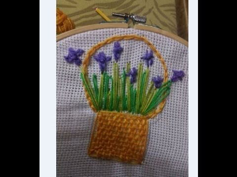 How To Make Hand Embroidery Flower Basket Stitch Tutorial Youtube