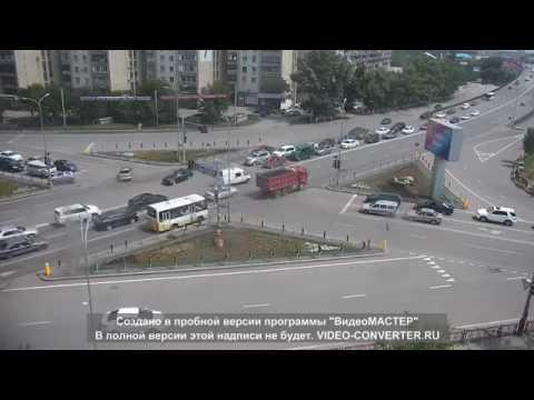 Подборка аварий в Караганде. Видео с камер уличного наблюдения.