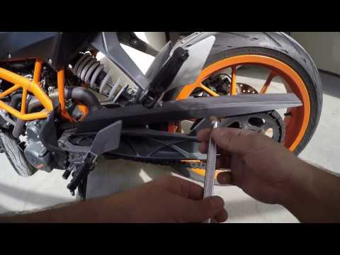 How to clean Motorbike Chain KTM