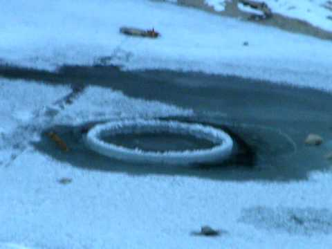 Tellico River Ice Ring in Whirlpool
