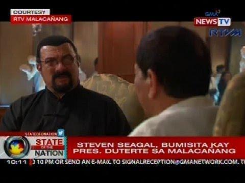 SONA: Steven Seagal, bumisita kay Pres. Duterte sa Malacañang