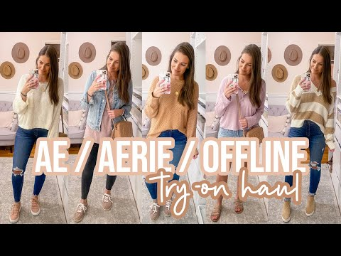 AMERICAN EAGLE / AERIE TRY-ON HAUL -- PRE-FALL 2020 | Sarah Brithinee